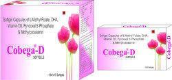 L-Methyl Folate DHA Vitamin D3 Pyridoxal 5-Phosphate and Methylcobalamin