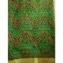 Green Printed Saree