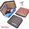 Black, Brown Male Men Foldable Leather Wallet