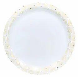 melamine sonata plate diamond gold