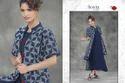 Blue Printed Mayra Kurti