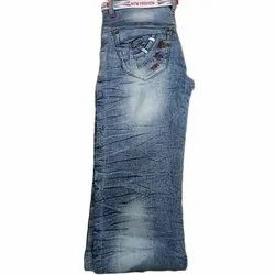 Party Wear Stretchable Kids Denim Jeans, Handwash