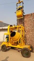 Concrete Mixer With Two Channel Lift Machine