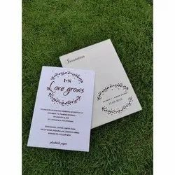 White Seed Paper Wedding Cards
