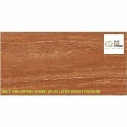 600 x 1200 Somany Grande Valor Lucido Rosso Travertine