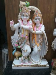 Lord Radha & Krishna Marble Statue