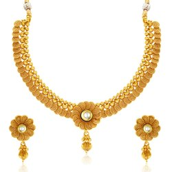 High Gold Plated Temple Jewellery Set - KACoin3000