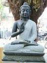Jaipurcrafts Handmade Black Marble Buddha Statue, Size: 9*84 Inch