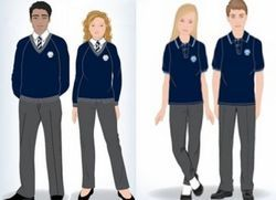 Hosiery & Polyester Plain, Printed School Uniform - Govt. And Private