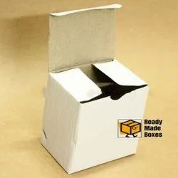 Readymade White Corrugated Box - 4x3x4 inches