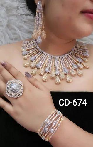 Gold White Two Tone Glamore Hi Fashion Jewellery American