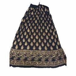 Ladies Rayon Crepe Skirt