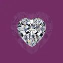 White Heart Cut Loose Moissanite Stone
