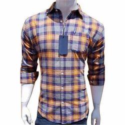 Cotton Casual Wear Mens Check Shirt