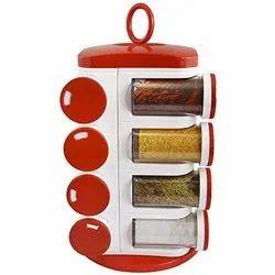 Red Kitchen Spice Rack