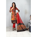 Designer Bandhani Unstitched Suit