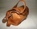 Goat Leather Small Round Bag