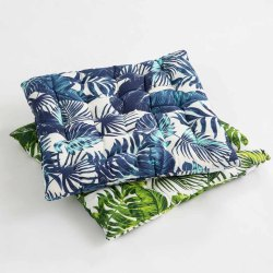 Leaf Printed Chair Pad Seat Pillow