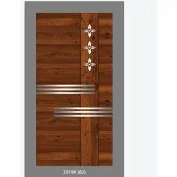 Brown Hinged Wooden Panel Door