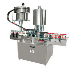 Semi Automatic HDPE Bottles Cap Screw Tightening Machine