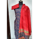 Chanderi Silk Straight Suits, Size: S & Xl