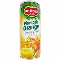 Del Monte Pineapple Canned Fruit Juice, Packaging Size: 240 ml, Packaging Type: Can