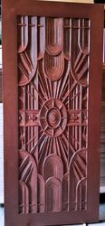 Exterior Deco Polish Wooden Door, For Home, 7*3 Ft