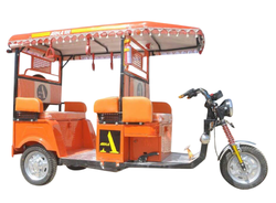 Orange Battery Electric Rickshaw