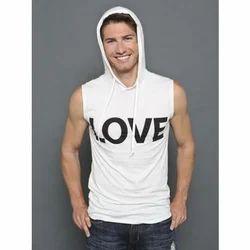 Cotton Casual Wear Mens Printed Hoodies