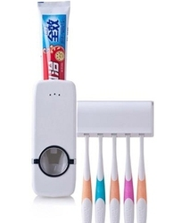 automatic toothpaste dispenser 5 toothbrush holder set wal