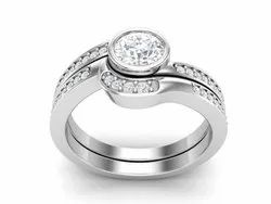 925 Sterling Silver Solitaire Wedding Ring