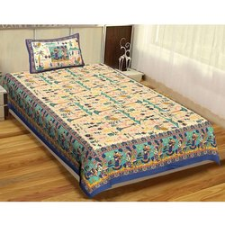 Printed Cotton Single Bed Sheet