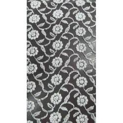 Cotton White, Black Embroidery Net Fabric