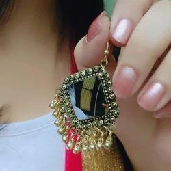 Sri Mann Collection Oxidised Metal Stylish Earrings