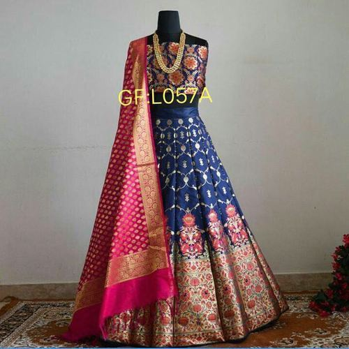 e00ecbb27dbf8 Semi-Stitched Brocade Lehenga, Rs 1850 /piece, Aarvi Fashion   ID ...
