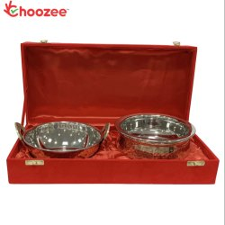 Choozee - Copper SS Handi and Kadhai Set of 2 Pcs