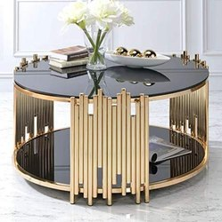 Rose Gold Designer Center Table, for Hotel