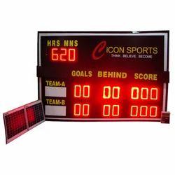Solar Cricket Aussie Rules LED Scoreboard, Shape: Rectangle