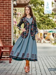 Rayon Jacket Style Kurti