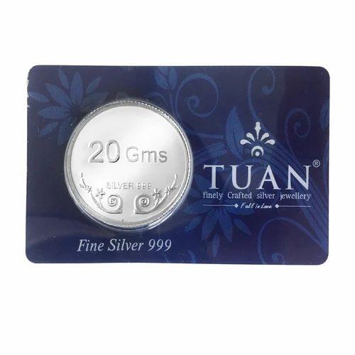999 Bis Hallmark Silver Coin Tuan Bis Hallmarked 999