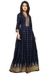 3/4th Sleeve Printed Anarkali Kurti