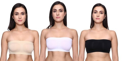 d977187638da1 KavJay s Non-Padded   Non-Wired Seamless-Free Size-Tube Bra for ...