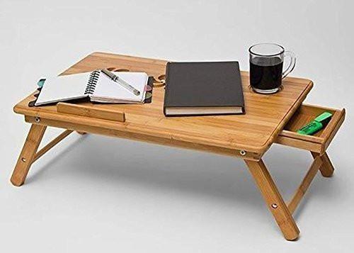 Black Inindia Multipurpose Laptop Table Bed Tray Foldable