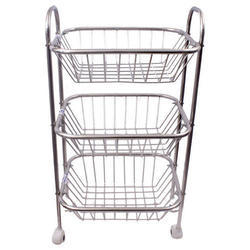 Stainless Steel Vegetable Trolley
