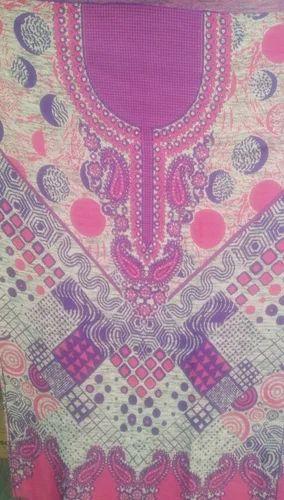 Printed Woolen Kurti Fabric