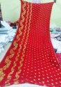 Pure Georgette Saree In Banarasi Pattern With Blouse