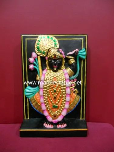 Black Marble Shree Nath Statue