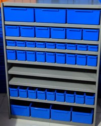 Alkon Grey Panda Shelving System, For Office, Mini 7