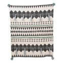 Slub Yarn Cotton Plain Dyed, Printed Embroidered Bed Sofa Throws