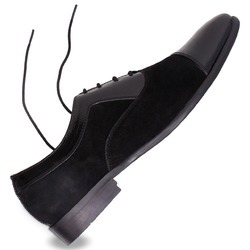 Men black and brown Leather Shoe